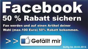 Facebook Gutschein 2015
