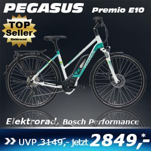 Pegasus Premio E10 Trap Weiß 17
