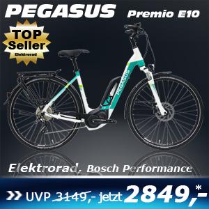 Pegasus Premio E10 Wave Weiß 17