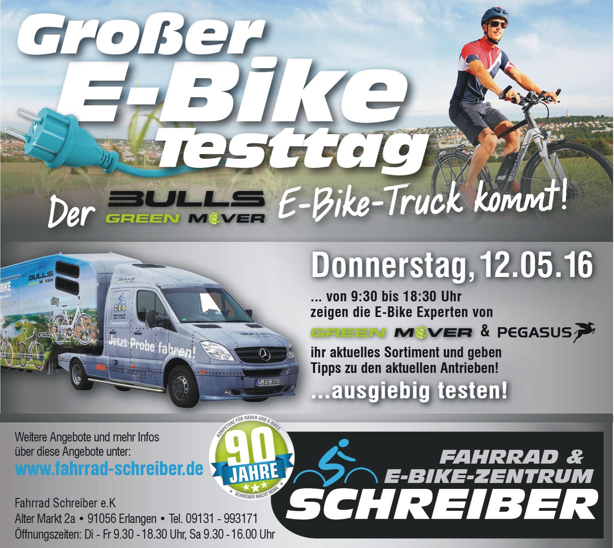 E-Bike Testtag Erlangen