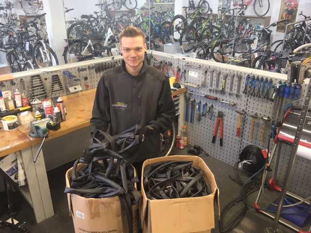 Fahrrad Reifen Recycling in Erlangen