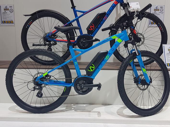 Elektromountainbike mit Bosch Antrieb in blau