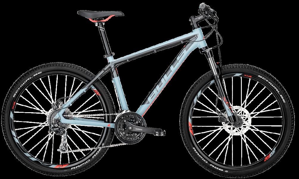 Bulls Mountainbike in grau mit Federgabel, Scheibenbremsen und Shimano Schaltung