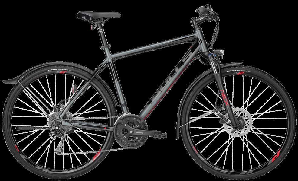 Bulls Cross Fahrrad mit Herrenrahmen mit suntour federgabel, shimano schaltung und Tektro scheibenbremsen