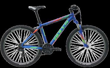 Bulls Mountainbike in blau mit shimnao schaltung und suntour federgabel