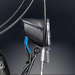 schwarzer Fahrrad Scheinwerfer