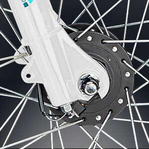 schwarzer Fahrrad Nabendynamo von Shimano