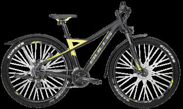 schwarz/gelbes Herren ATB von Bulls mit STVZO Ausstattung, Scheibenbremsen und Shimano Schaltung