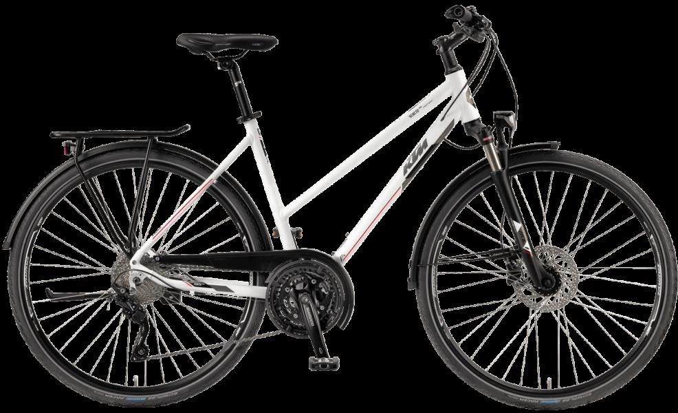 KTM Trekkingrad mit LX Kettenschaltung mit Scheibenbremsen von Shimano
