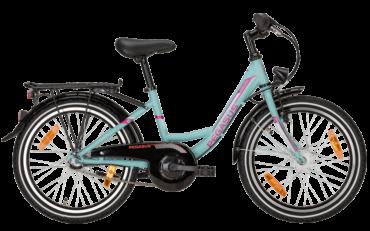 Pegasus Kinderrad mit tiefeinstieg in blau mit shimano Nabenschaltung und suntour federgabel