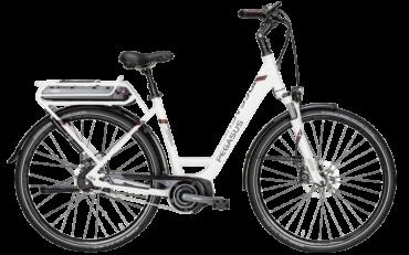 Pegasus Cityrad Pedelec mit tiefeinstieg in weiß mit Shimano Steps Motor und Shimano DI2 Nabenschaltung
