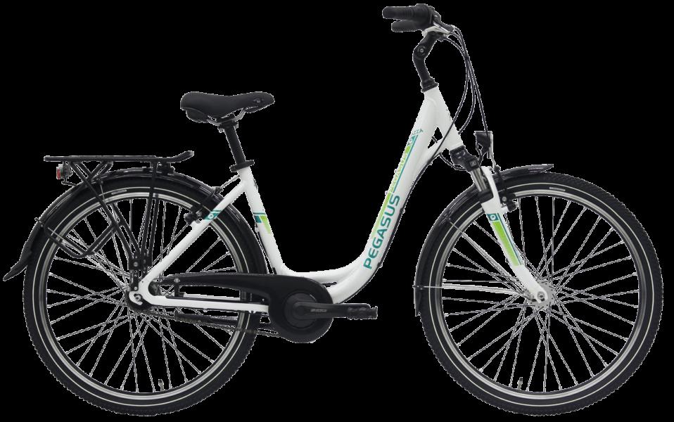 weisse Damen Cityrad von Pegasus mit 7 Gg Nabenschaltung mit Uno Rahmen