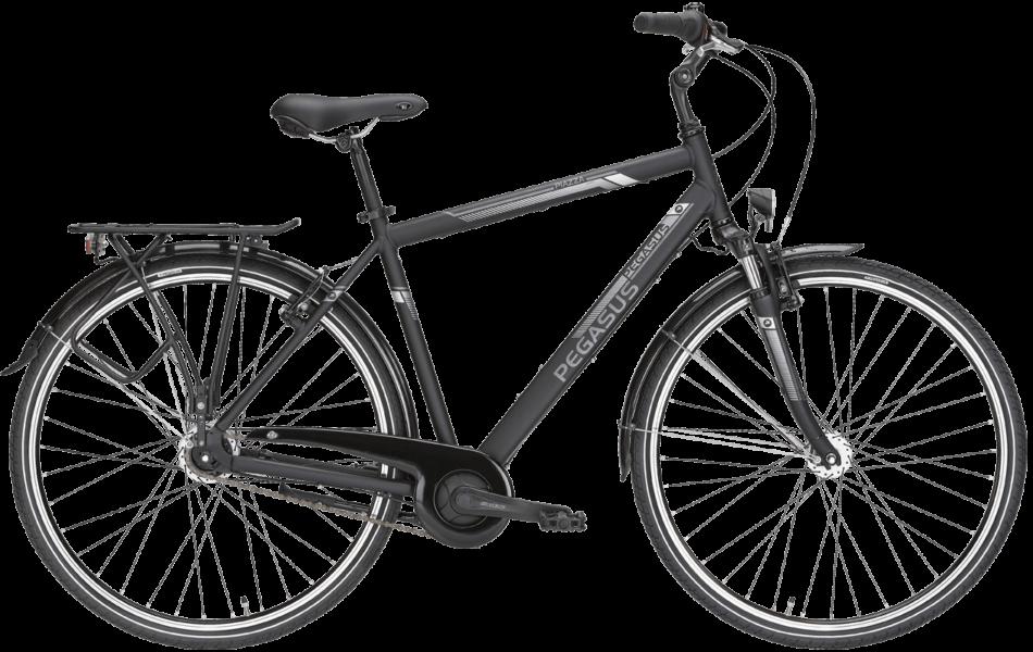 schwarzes Herren Cityrad von Pegasus mit 7 Gg Nabenschaltung