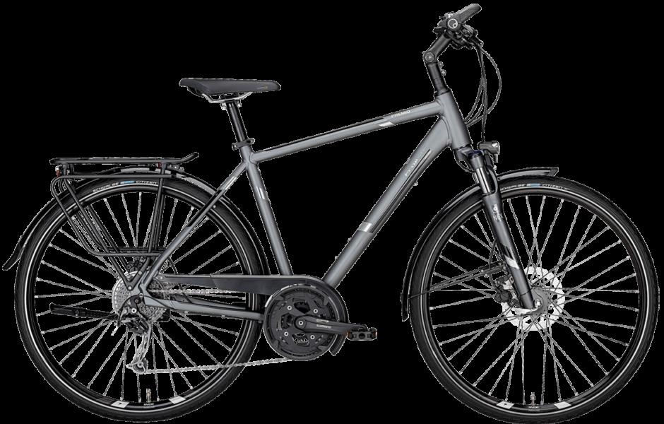 graues Herren Trekkingrad mit Scheibenbremsen und Shimano Kettenschaltung