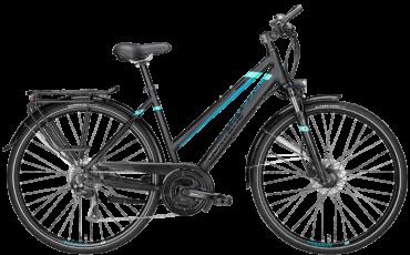schwarzes Damen Trekkingrad von Pegasus mit Shimano Schaltung