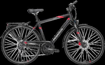 schwarzes Herren Trekkingrad von Pegasus mit Shimano Schaltung