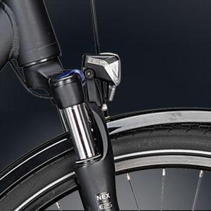 schwarzer Fahrradscheinwerfer