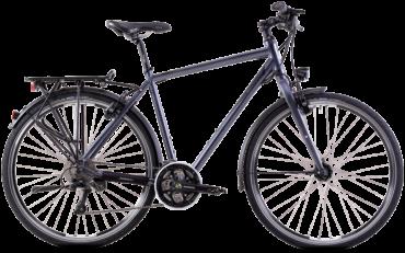Steppenwolf Trekkingrad als herrenrad in grau mit schimano Schaltung und Hydraulischen magura bremsen