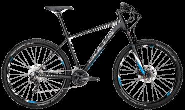 Bulls Mountainbike in schwarz mit Shimano Schaltung, hydraulischen Scheibenbremsen und Federgabel