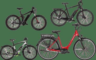mehrer E-Bike`s aller Kategorien