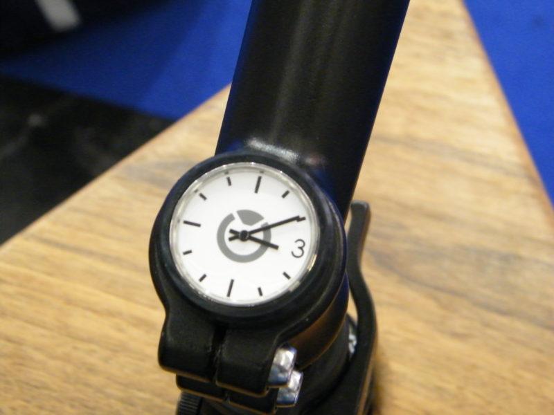 Uhr in einem Fahrrad Vorbau