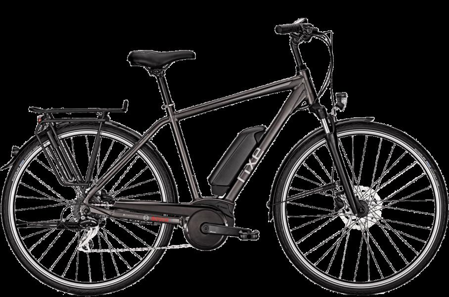 graues Herren Trekking E Bike mit Bosch Motor und Shimano Kettenschaltung