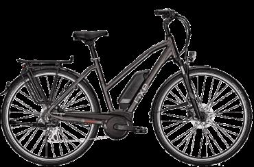 graues Damen Trekking E Bike mit Trapezrahmen, Bosch Motor und Shimano Kettenschaltung