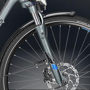 Fahrrad Federgabel von Suntour mit Lockouthebel