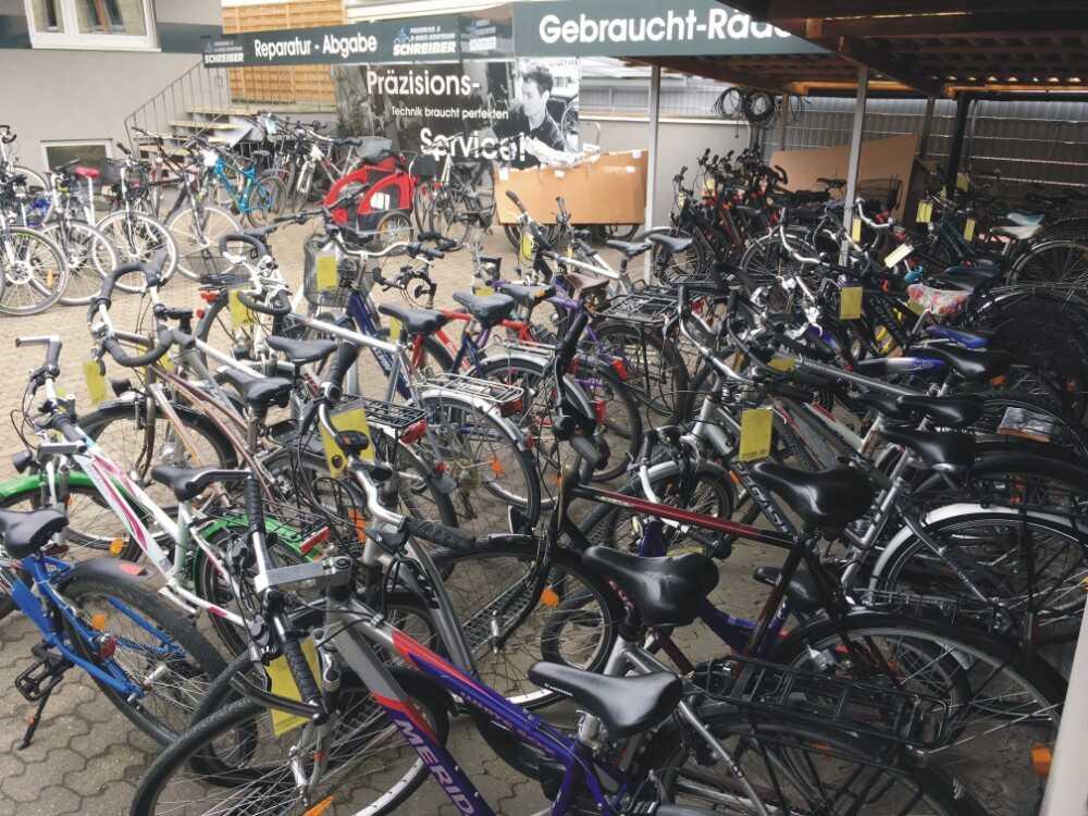 Auswahl an gebrauchten Fahrrädern bei Fahrrad Schreiber in Erlangen
