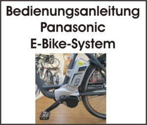 Text plus Abbildung Panasonic E-Bike System