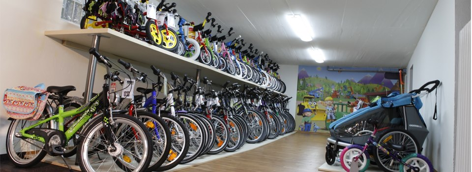 Foto von der Kinderrad abteilung beim Fahrrad Schreiber
