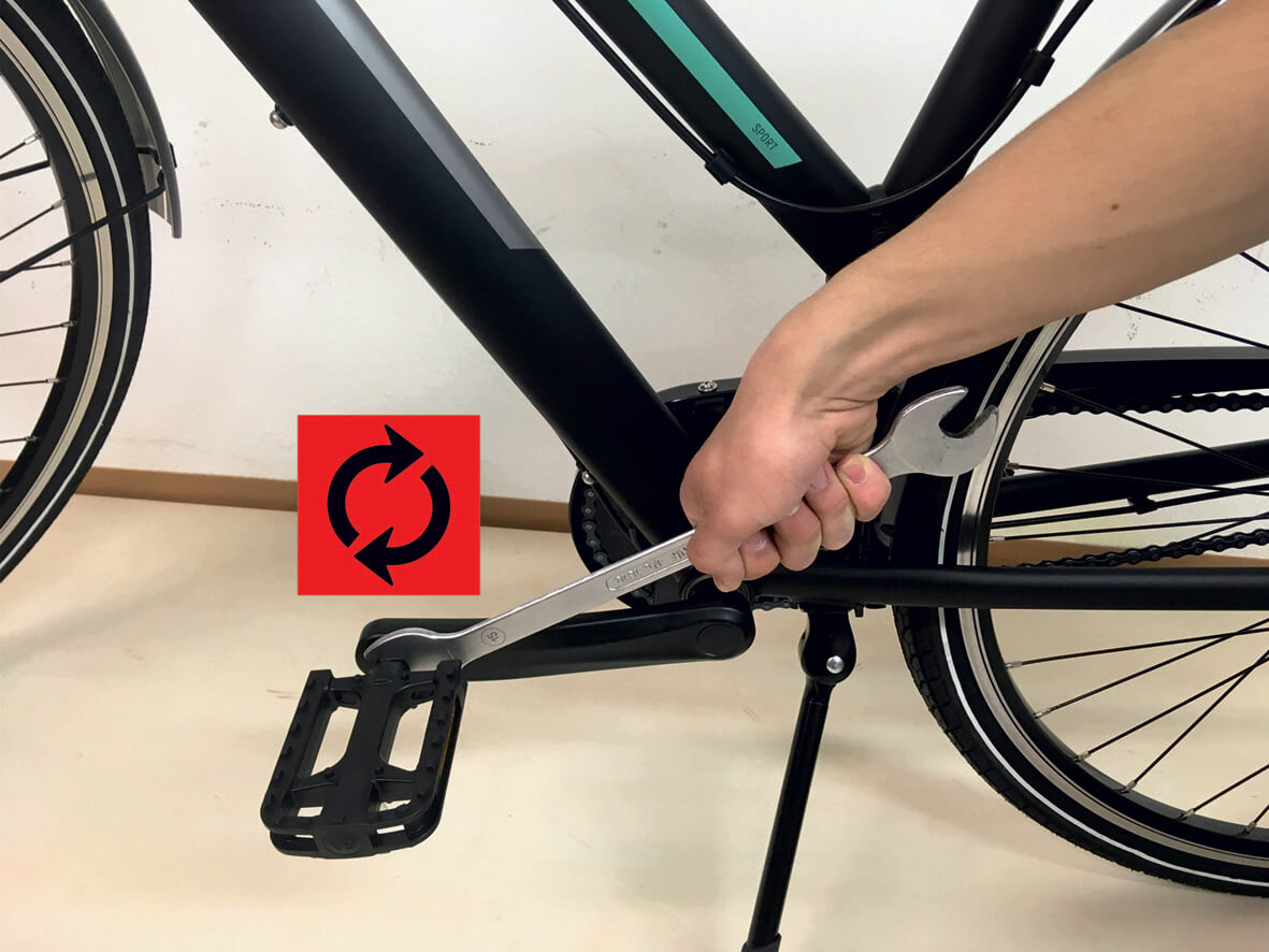 Pedale abmontieren fahrrad Fahrradanhänger/Beetmobil auf